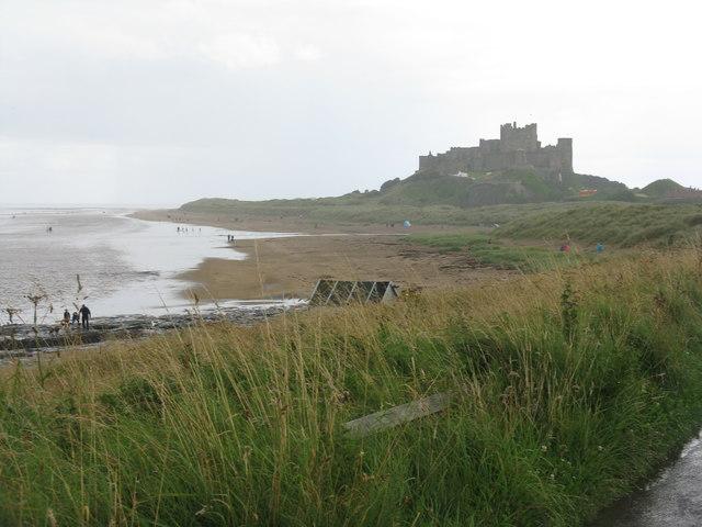 Bamburgh Castle after rain