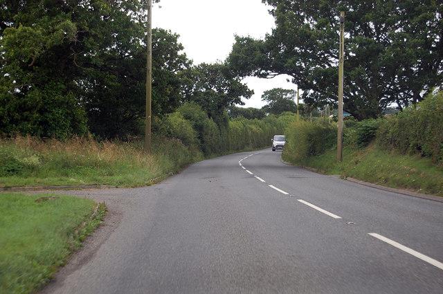 A3124 near South Nethercott Farm