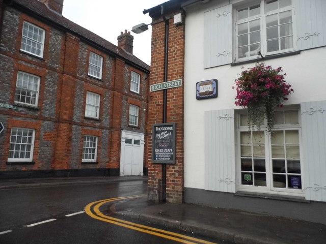 High Street at the junction of Newbury Street, Lambourn