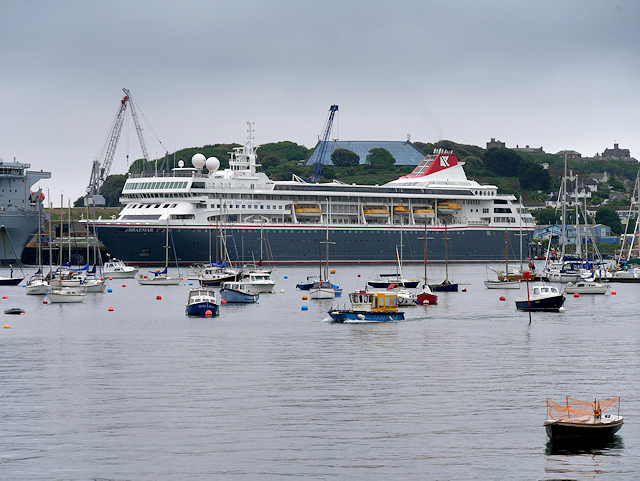 Cruise Ship in Falmouth Harbour