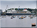 SW8132 : Cruise Ship in Falmouth Harbour by David Dixon