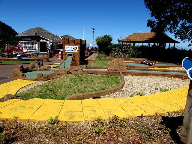 Jubilee Gardens Crazy Golf course, Minehead