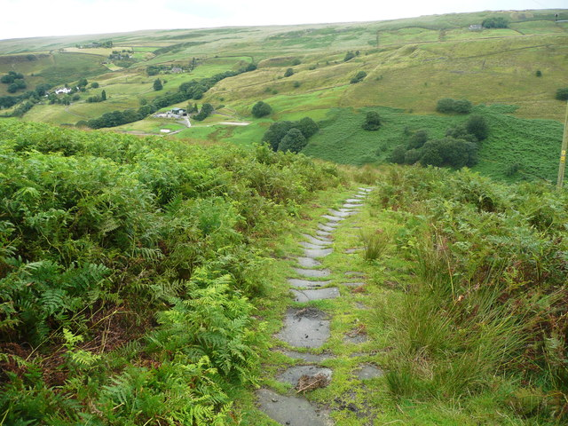 The Moorhey Bank bridleway, Walsden