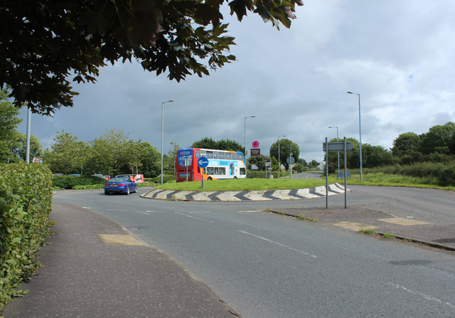 Roundabout on the A70 at Dobbies