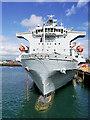 SW8132 : Casualty Ship RFA Argus at Falmouth Duchy Wharf by David Dixon