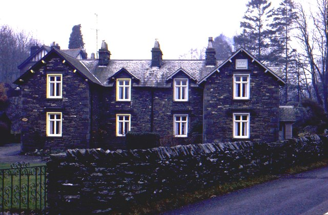 Local stone cottages at Lakeside, Cumbria