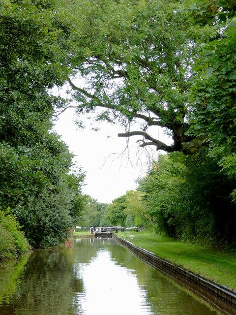 Llangollen Canal north of Wrenbury Heath in Cheshire