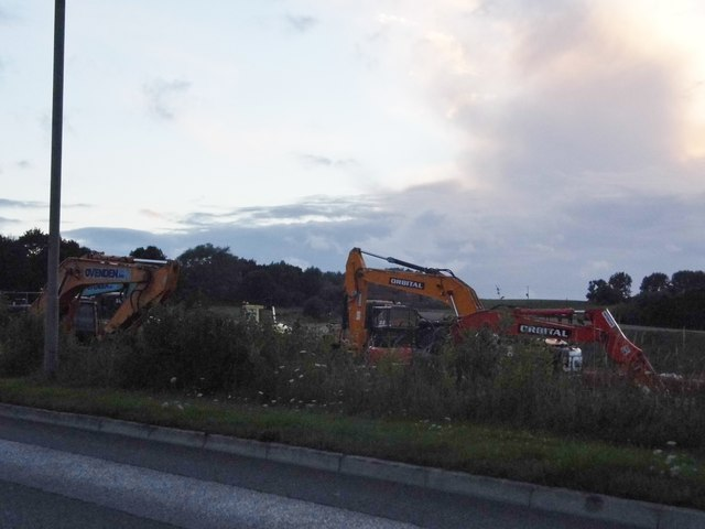 Work on the new toll road, Henwick