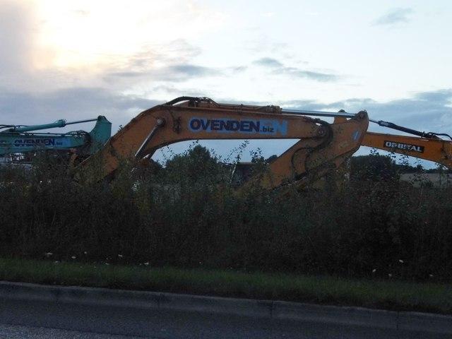Excavators by Tull Way, Thatcham