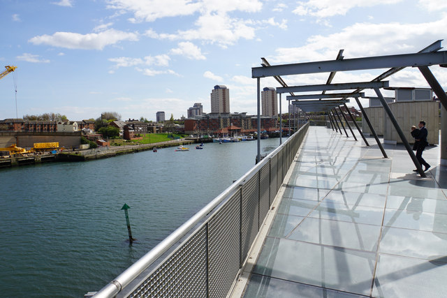 The River Wear by the National Glass Centre