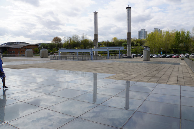 The roof of the National Glass Centre