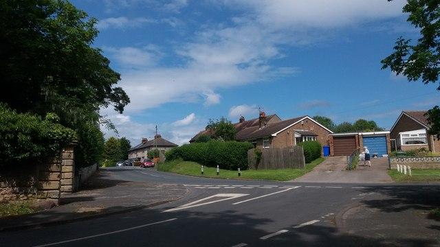 Main road junction in Lebberston