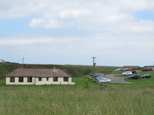 Cafe and car park at Thornwick