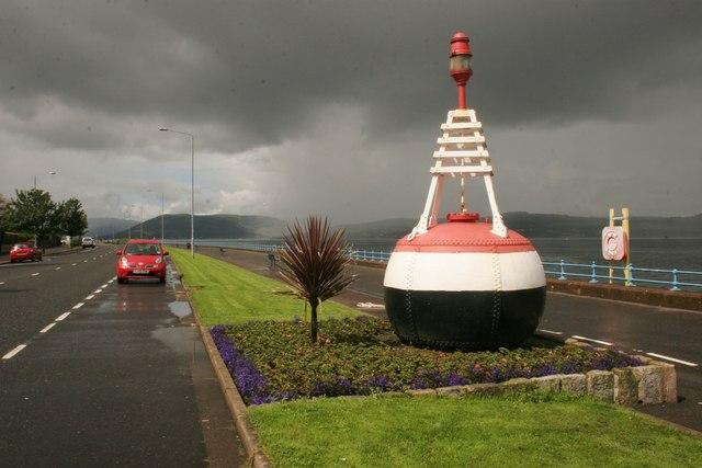 Old navigation buoy, Esplanade, Greenock