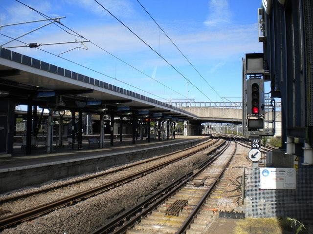 Railway west of Ashford International station