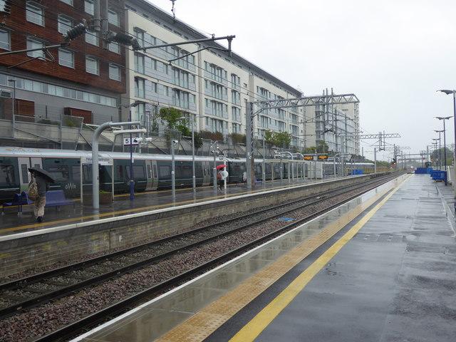 Hayes & Harlington station in the rain