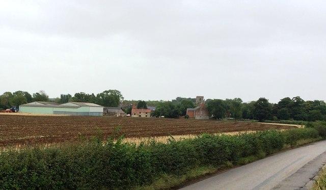 View Towards Hatfield Farm and Shireoaks Church