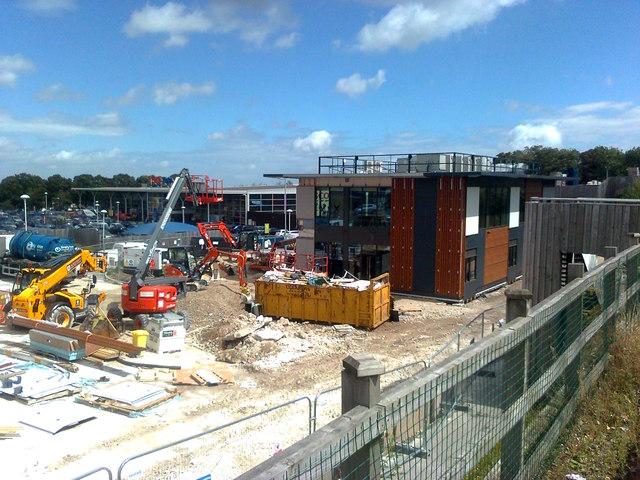 Building of a new McDonald's restaurant at Tesco's