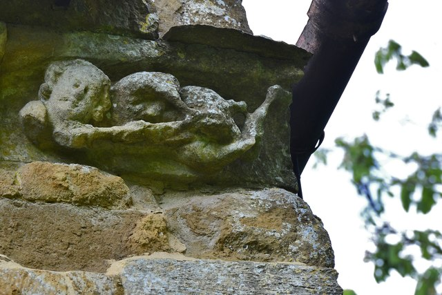 Hanwell, St. Peter's Church: The final sculpture in the south frieze