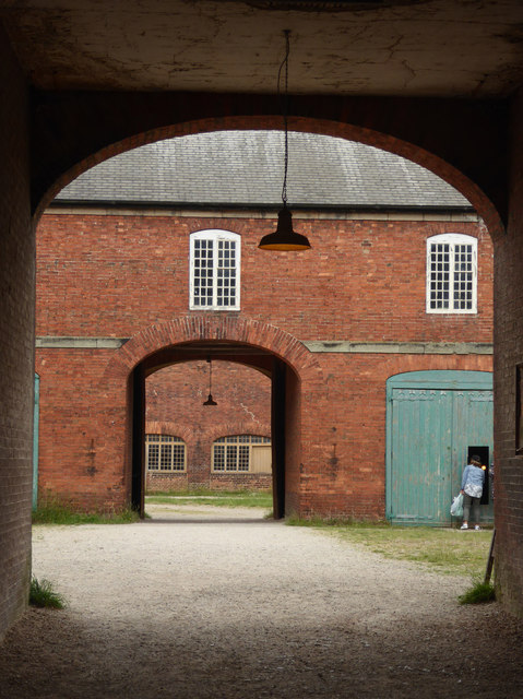 Calke Abbey - stables through the arches