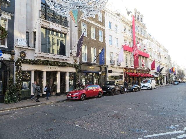 Christmas decor - New Bond Street
