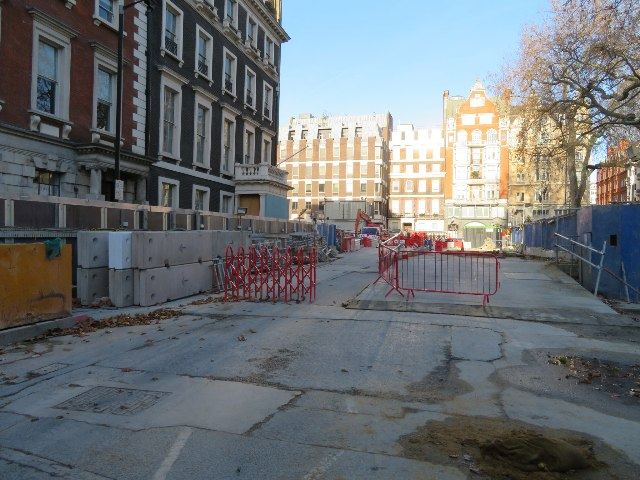 Cross-rail works - Hanover Square