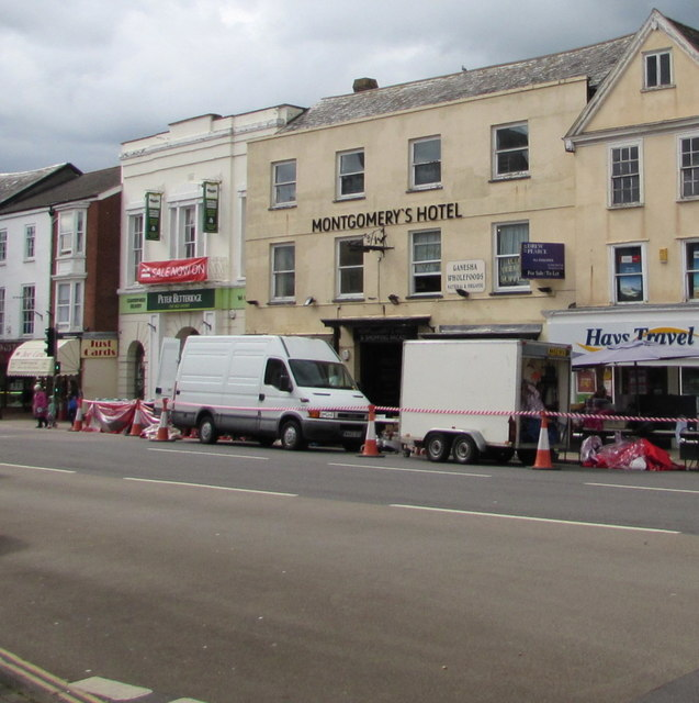 Former Montgomery's Hotel in Honiton