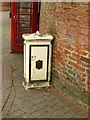 SK4641 : Tramway feeder box, Market Place by Alan Murray-Rust