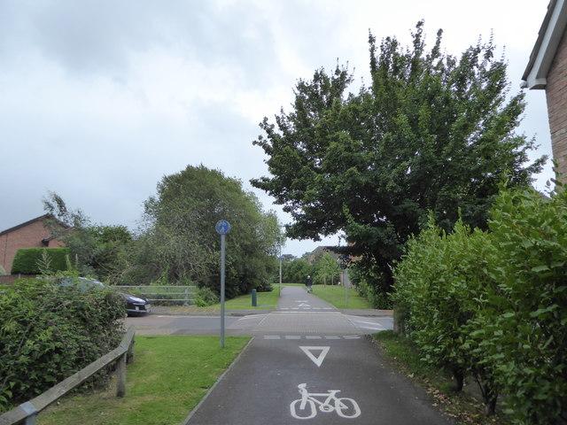 Cycle path along River Walk