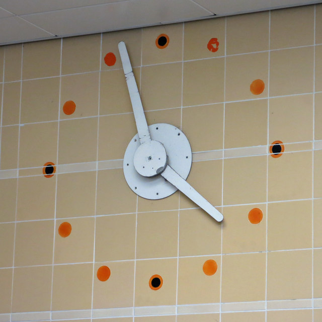 Ruislip Manor tube station - clock