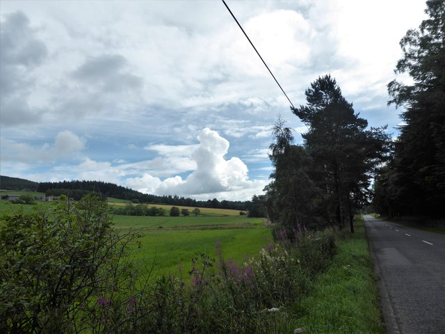 A view east from the A980 at mid-day
