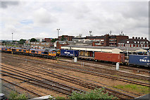 SU4519 : Sidings to the East of Eastleigh Railway Station by David Dixon