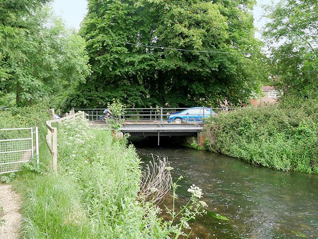River Itchen, Bridge at Bishopstoke Road