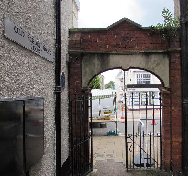 Former school archway, Honiton