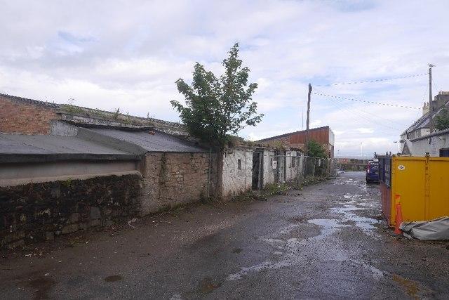 Boat shed during demolition