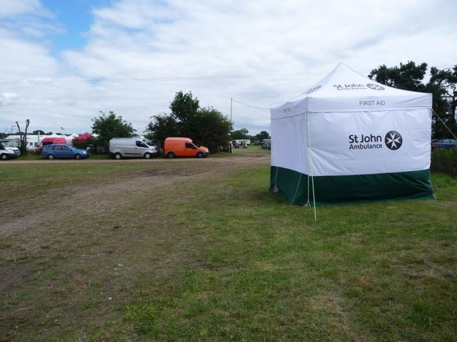 First Aid station, Weeting Steam Rally