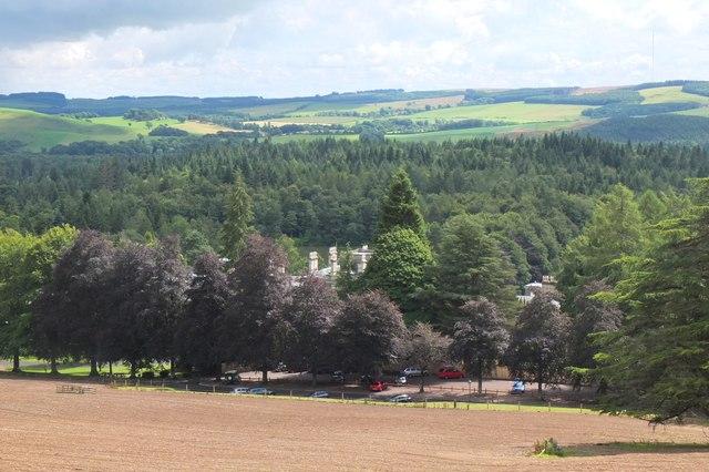 Bowhill and car park