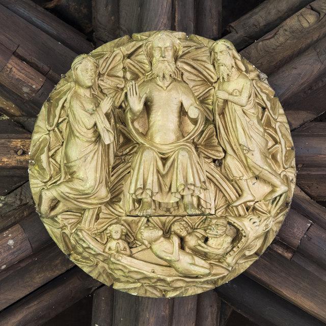 St Peter Hungate, Norwich - Roof boss