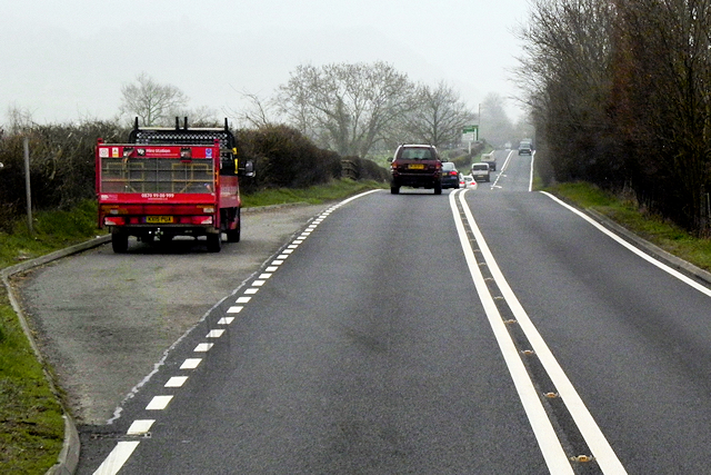 Layby on the A483 near Llanmerewig