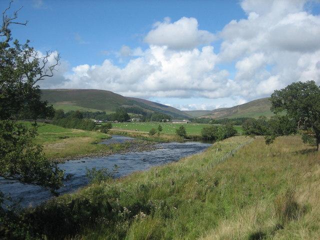 Confluence of the River Hodder and Langden Brook