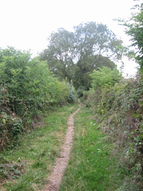 View north along the footpath, near Mount Pleasant