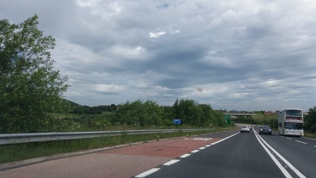 New stretch of the A165 near Scarborough