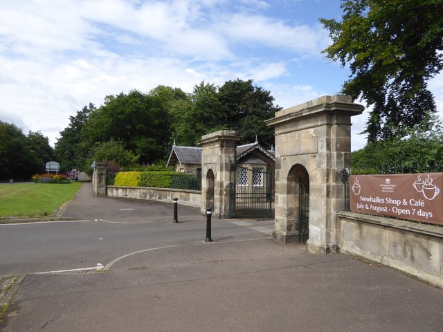 Entrance to Newhailes House