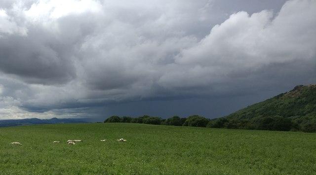 Stormy skies over the Wrekin