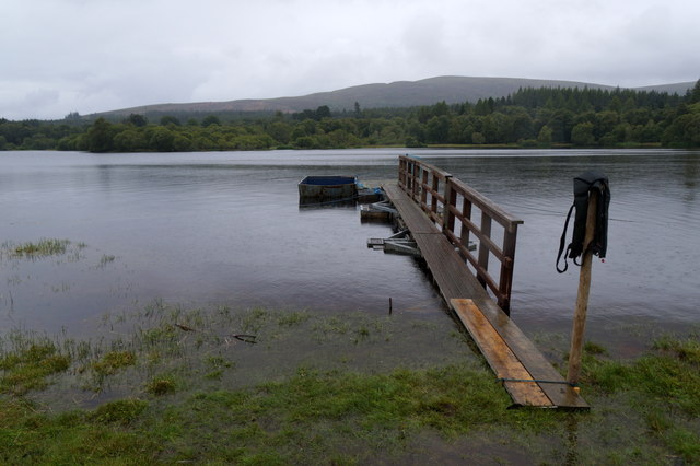 Small pier on Loch Moy at Moy Hall