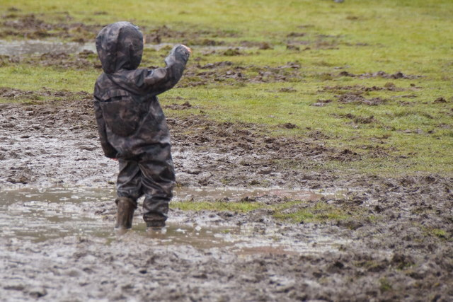 Enjoying the mud at Moy Game Fair