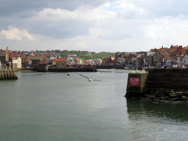 The River Esk in Whitby