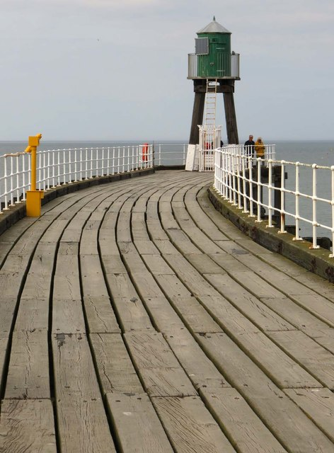 The walkway on the west breakwater
