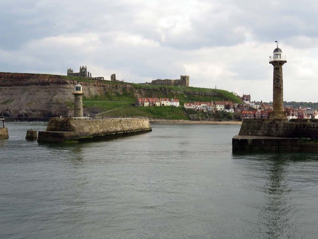 The entrance to the Lower Harbour in Whitby