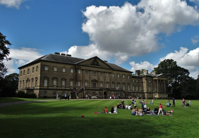 Nostell Priory with summer holiday visitors